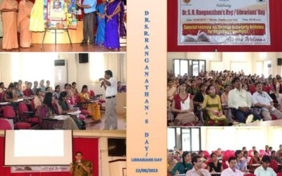 Librarians' Day/ Dr.S.R.Ranganathan's Day 2012 Writing Scholarly Articles for Science /Social Science Journals and Writing Bibliography – APA Style
